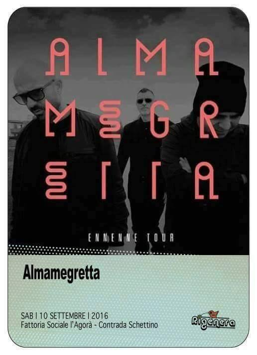 ALMAMEGRETTA #EnnEnne Tour unico concerto in Sicilia