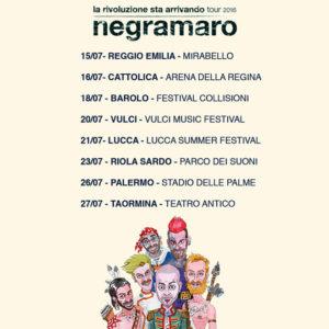Negramaro 26 luglio a Palermo