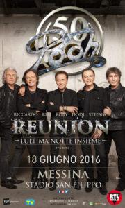 i POOH annunciano il concerto del 18 giugno allo Stadio San Filippo di Messina
