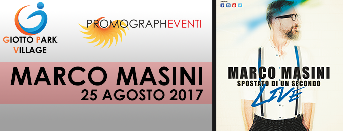 Marco Masini In concerto a Palermo con Spostato di un secondo