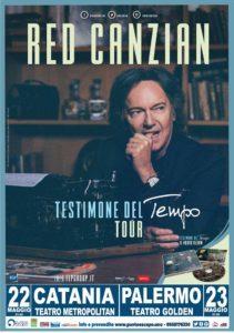 Red Canzian Testimone del tempo Tour Teatro Golden PALERMO