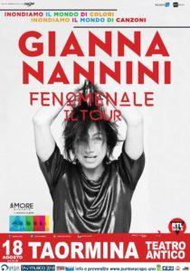 Gianna Nannini Fenomenale – Il Tour Teatro antico di TAORMINA 18 agosto 2018