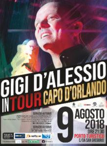 Gigi D'Alessio 9 Agosto 2018 Porto Turistico Marina - Capo D'Orlando