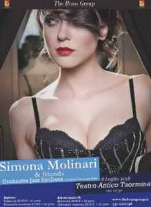 Simona Molinari & Friends 8 Luglio Teatro Antico  Via del Teatro Greco, 1 - Taormina (ME)