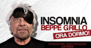 """Beppe Grillo """"Insomnia. Ora dormo!"""" // 25 febbraio Catania"""
