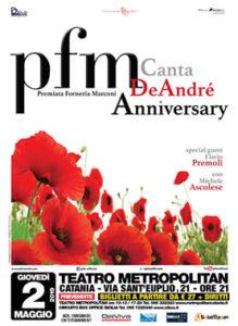 PFM Canta De Andre' Anniversary 2 Maggio 2019 Teatro Metropolitan-Catania