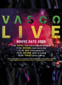 VASCO LIVE 2022 - IN VENDITA DAL 15 OTTOBRE 2021